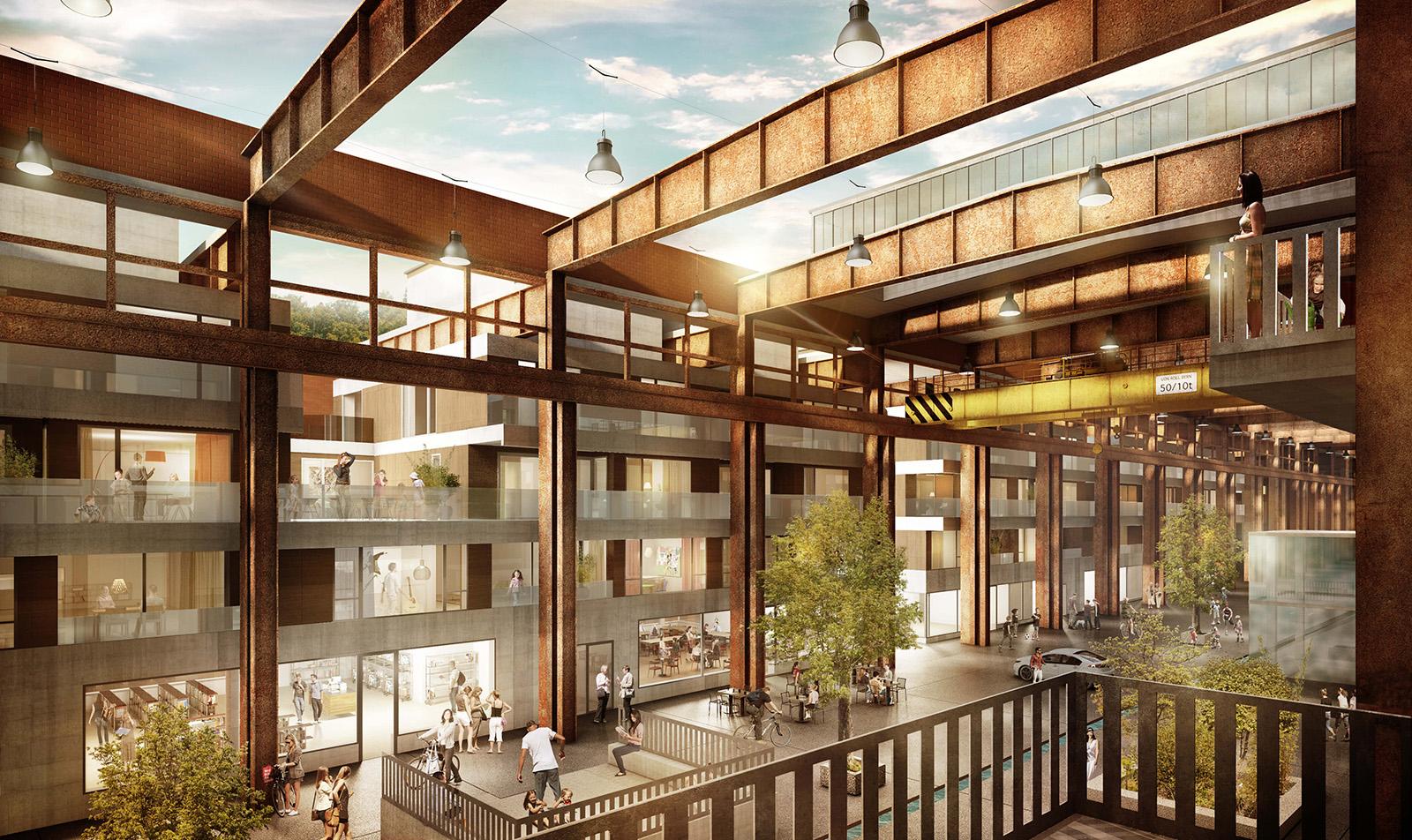 Visualisierungen architektur visualisierungen dunedin for Halle innenarchitektur
