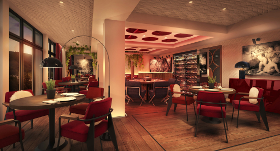 Weinrestaurant in einem Luxushotel