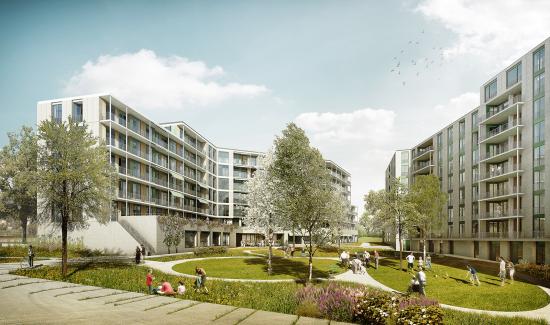 Neubau Alterszentrum und Wohnsiedlung Eichrain