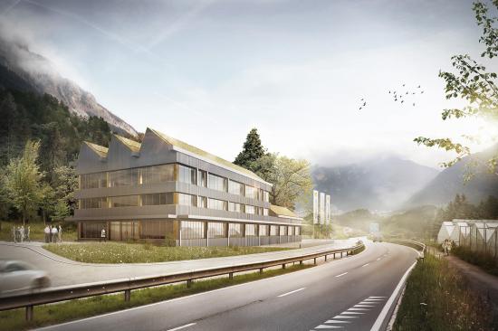 Neubau Betriebsgebäude Rhiienergie